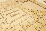 Wooden Puzzle ~ A Graduation Guestbook & Keepsake