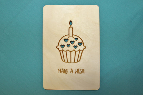 Make a Wish ~ Wooden Postcard