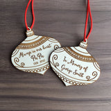 Always in Our Heart Personalized Memorial Wooden Bauble Christmas Ornament