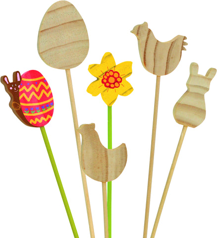 12pc Easter Motif Sticks