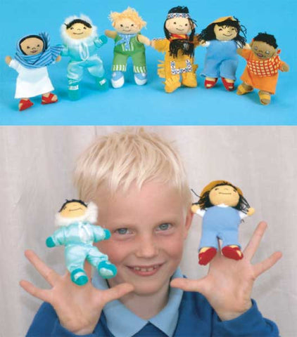Children Around The World Finger Puppets