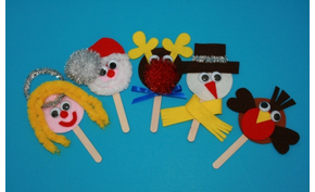 SmartCraft Christmas Stick Puppets