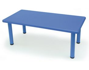 Blue Rectangular Plastic Table