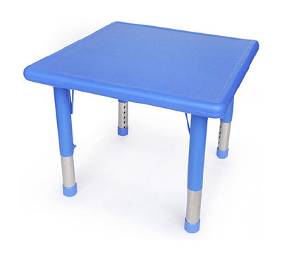 Square Blue Plastic Table