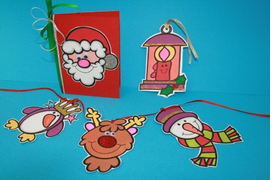 Colour And Cut Out Christmas Frieze