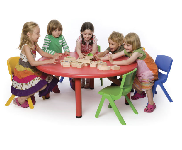 Round Plastic Table and Chairs Set
