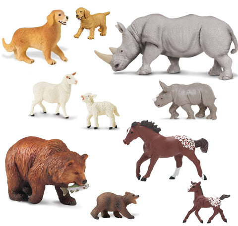 Mother & Baby Replica Animal Assortment