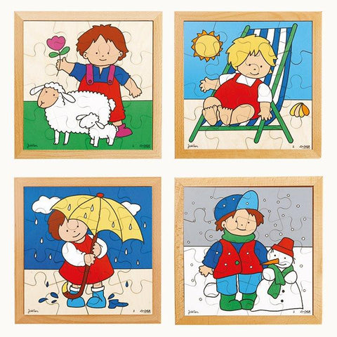 Seasons Puzzles - Set of 4