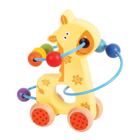 Giraffe Push Along Bead Frame