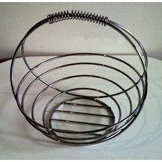 Chrome Basket, Double Fold Handle
