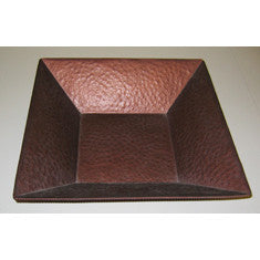 Large Copper colored Tapered Square Container