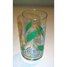 Retro Crisa Leaf and Swirl 4 Drinking Glasses