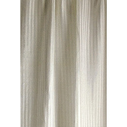 Sustainable Sheer Striped Hemp Silk Curtains GreenSage