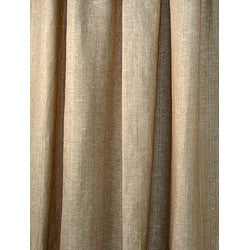 Natural Taupe Linen Sustainable Drapes