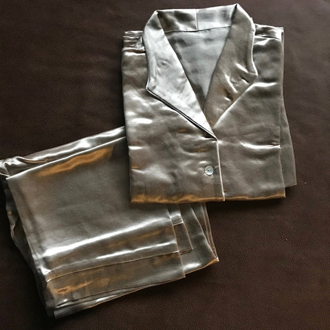 GreenSage® Taupe Color Hemp Silk Womens Pajamas - SAMPLE SALE - Size Medium