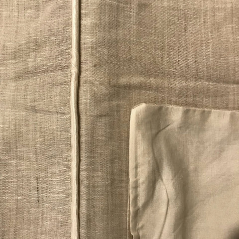 GreenSage® Natural Linen Duvet Cover & Pillow Shams - SAMPLE SALE