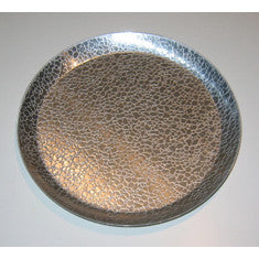"Vintage Stainless 8"" Pebble Design Tray"