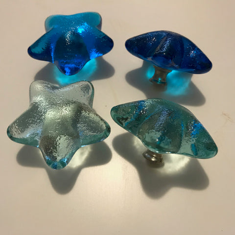 Recycled Glass Star Knobs