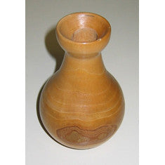 Vintage Turned Sycamore Wood Vase
