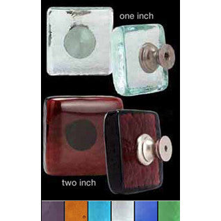 Recycled Glass Square Knobs