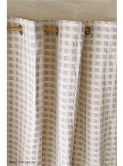 Coyuchi Organic Cotton/Linen Birch Shower Curtains SALE