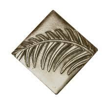 Palm Leaf Design Accent Tile