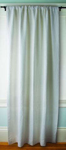 GreenSage® Crisp White Linen Sustainable Drapes