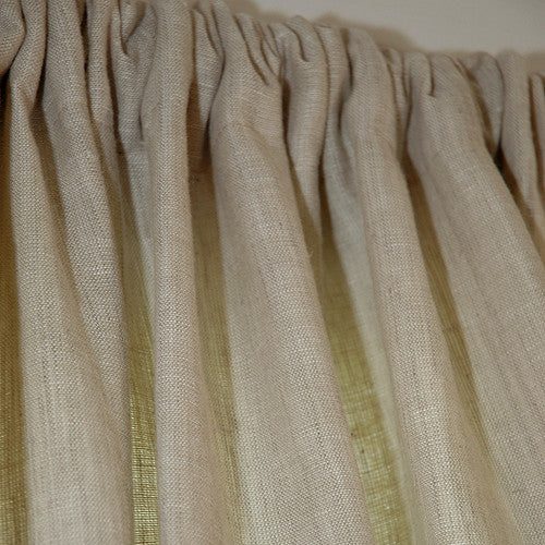 Natural taupe linen sustainable drapes - Taupe kamer linnen ...