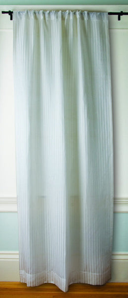 Greensage 174 Sustainable Sheer Striped Hemp Silk Curtains