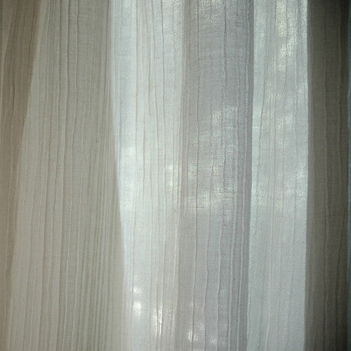Sustainable Sheer Crinkle Crepe Hemp/Silk Curtains
