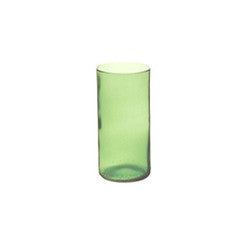 Clear Mint Recycled Glass Vase