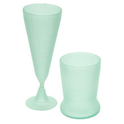 Teal Recycled Glass Tumblers & Goblets