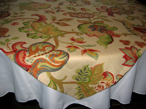 Designer Tablecloths by GreenSage® - Beige Abstract Floral