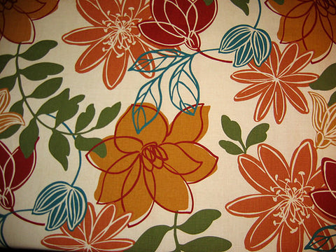 Designer Tablecloths by GreenSage® - Beige, Ochre & Teal Mod Floral Design