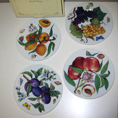 Vintage Limoges Fruit Themed Dessert Plates In Original Box