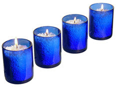 Recycled Glass Cobalt Votive Candle Holders