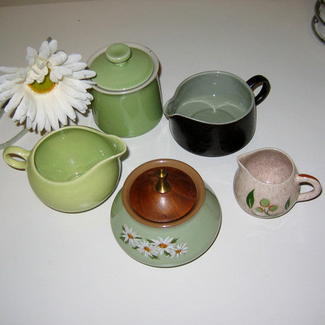 Vintage Sugar Bowls & Creamers, Priced per Item