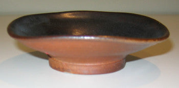 Handcrafted Round Stoneware Whatnot or Trinket Tray