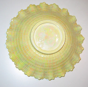Vintage Handcrafted Yellow Rainbow Glazed Dish