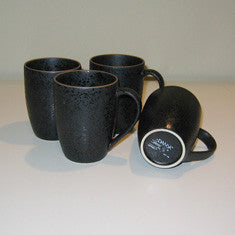 Vintage Dansk Santiago 4 Coffee Mugs in Black