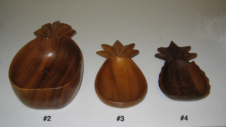 Vintage Wood Pineapple Serving or Decorative Dishes