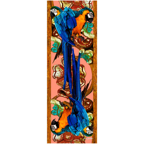 Parrots On Door Silk Scarf