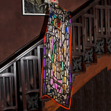 Stained Glass Silk Scarf