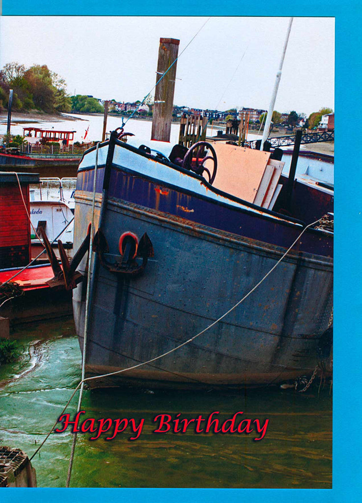 Boat in Hammersmith, card