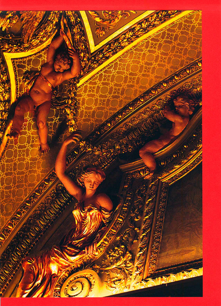 Cherubs on Louvre ceiling card