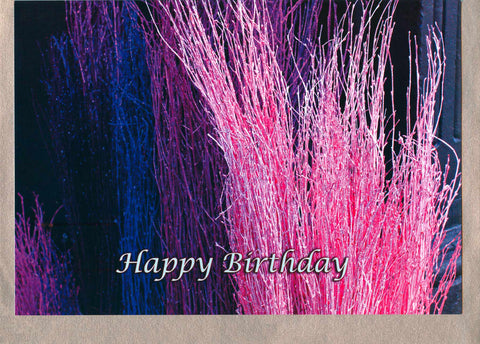 Coloured Straw, card