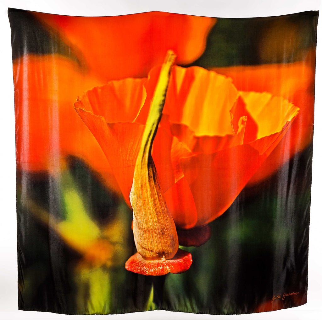 Orange Poppies – Satin Silk
