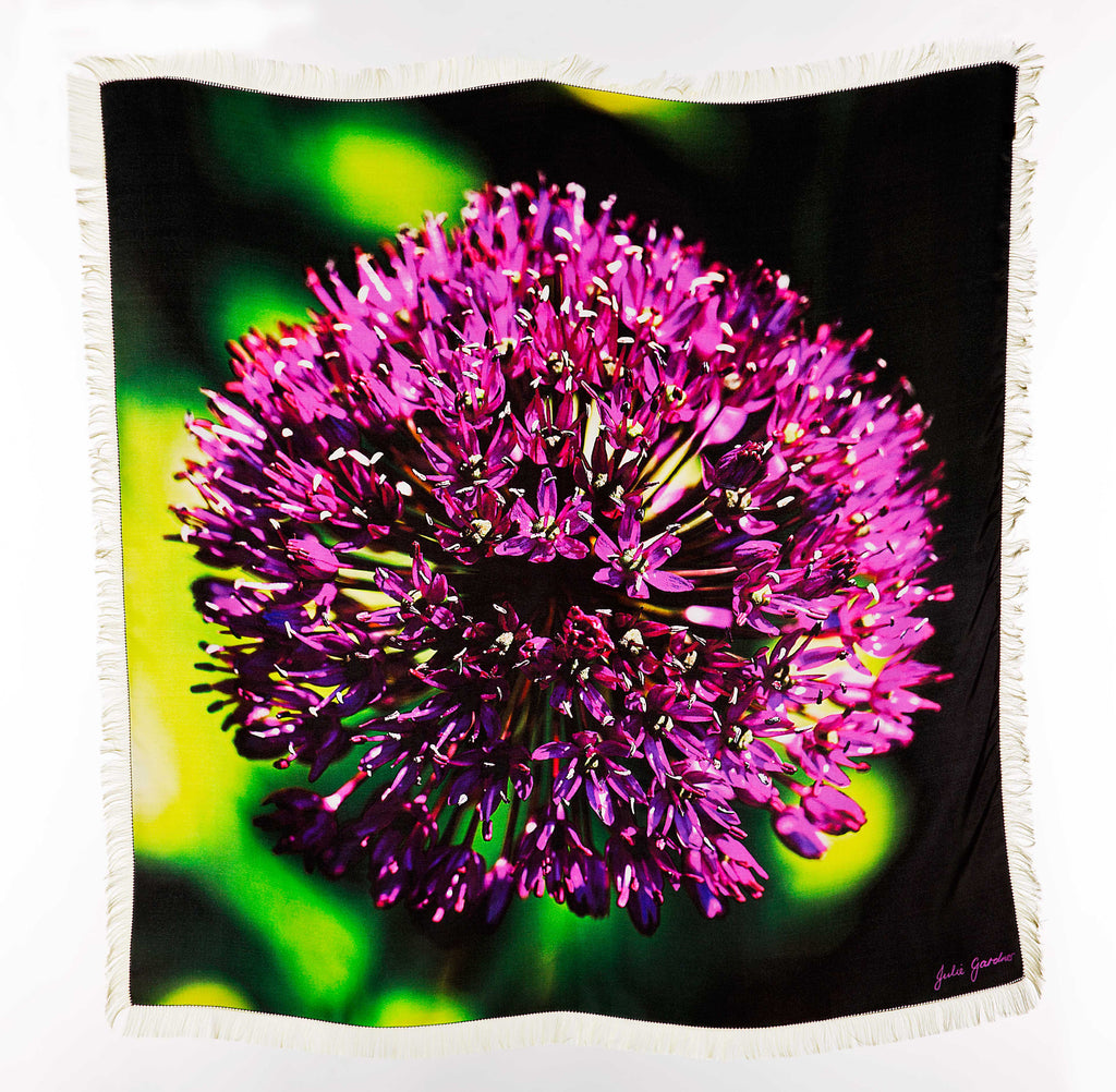 Purple Allium, Silk Twill