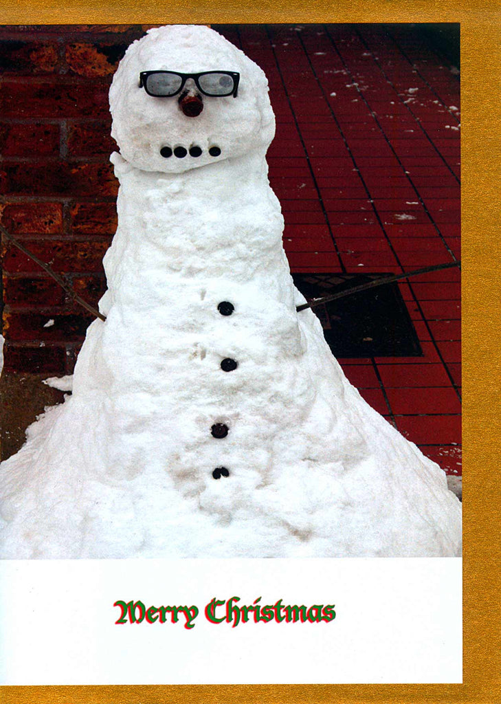 Snowman with sunglasses