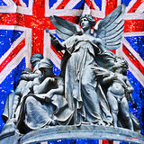 Statue On Union Jack – Satin Silk